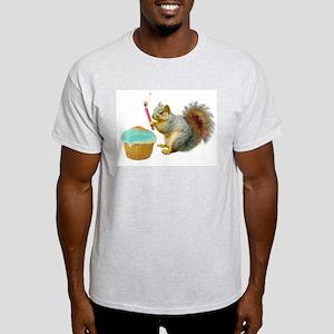 Squirrel Candle Cupcake Light T-Shirt