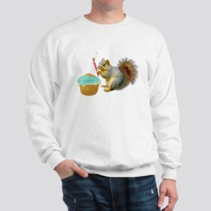 Squirrel Candle Cupcake Sweatshirt