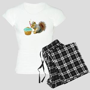 Squirrel Candle Cupcake Women's Light Pajamas