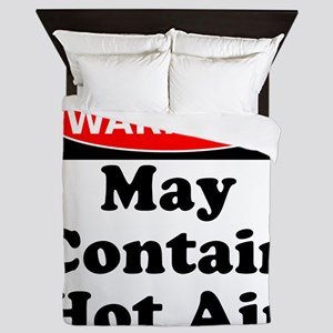 Warning May Contain Hot Air Queen Duvet