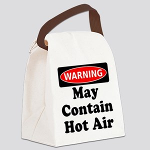 Warning May Contain Hot Air Canvas Lunch Bag