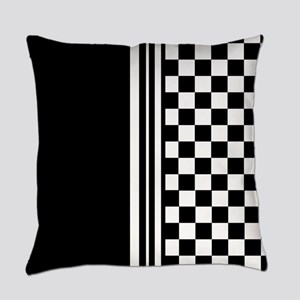 Stylish designer Stripes and check Everyday Pillow