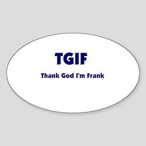 TGIF2 Oval Sticker