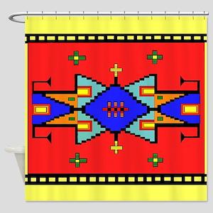 Lakota Dreams Blanket Design Shower Curtain