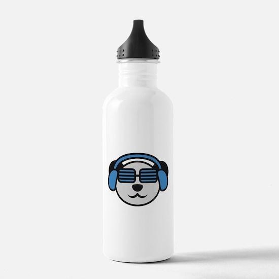 music_panda_head Water Bottle