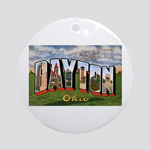 Dayton Ohio Greetings Ornament (Round)