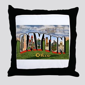 Dayton Ohio Greetings Throw Pillow