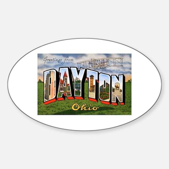 Dayton Ohio Greetings Oval Decal
