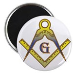 The Master Masons Square and Compasses Magnet
