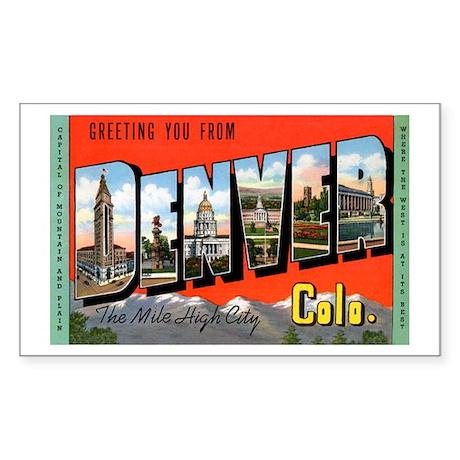 Denver Colorado Greetings Rectangle Sticker