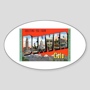 Denver Colorado Greetings Oval Sticker