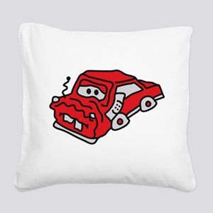 auto_accident Square Canvas Pillow