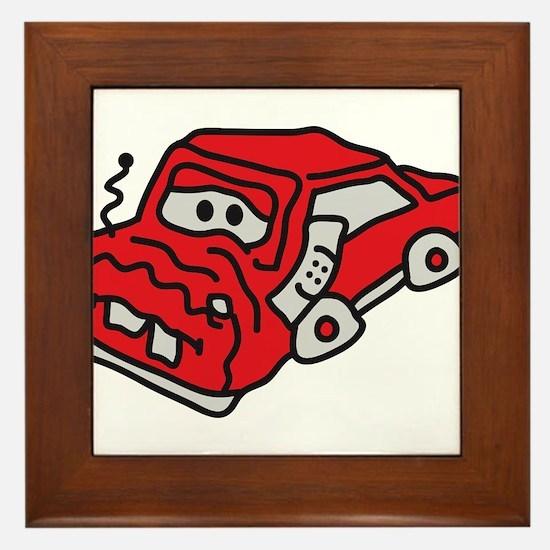 auto_accident Framed Tile