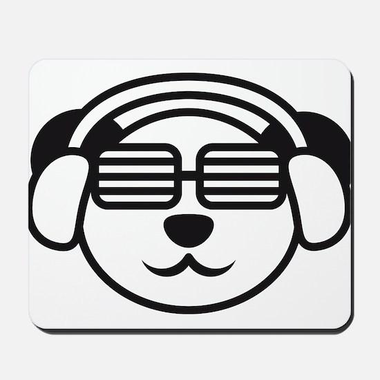 music_panda_head Mousepad