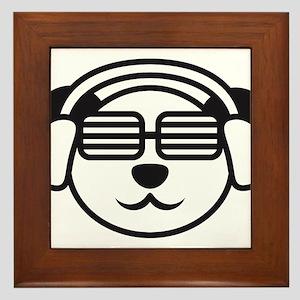music_panda_head Framed Tile