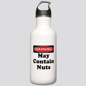 Warning May Contain Nuts Water Bottle