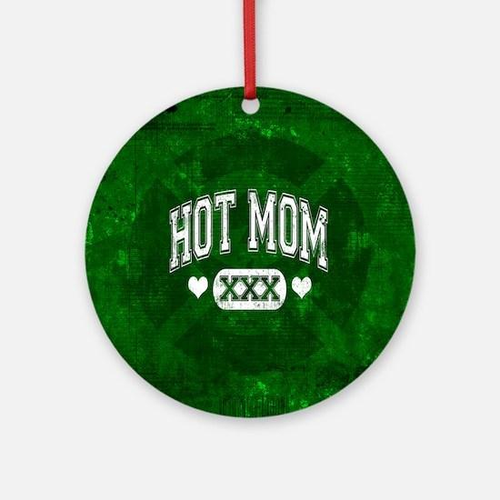 Hot Mom Ornament (Round)
