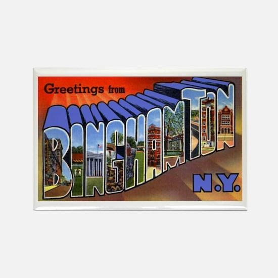 Binghamton New York Greetings Rectangle Magnet
