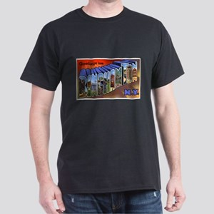 Binghamton New York Greetings (Front) Dark T-Shirt