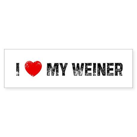 I * My Weiner Bumper Sticker