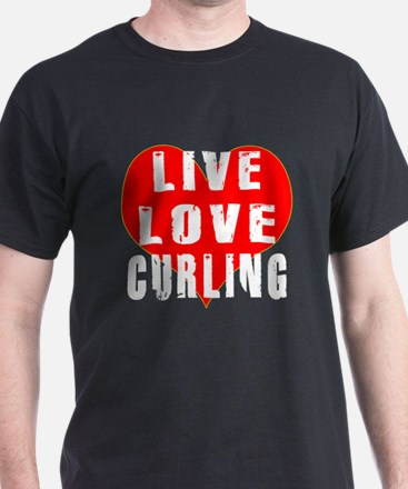Live Love Curling T-Shirt