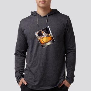 Whisky on the Rocks Mens Hooded Shirt