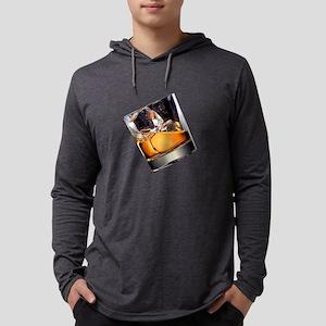 Whisky on the Rocks Mens Hooded Shirt