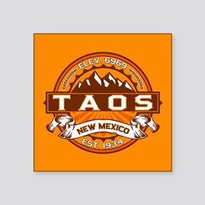 "Taos Tangerine Square Sticker 3"" x 3"""