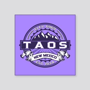 "Taos Violet Square Sticker 3"" x 3"""