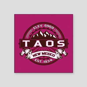 "Taos Raspberry Square Sticker 3"" x 3"""