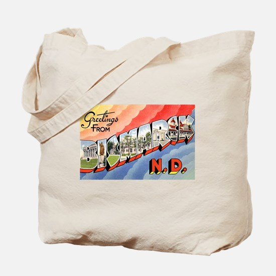 Bismarck North Dakota Greetings Tote Bag