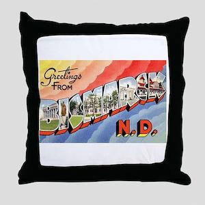 Bismarck North Dakota Greetings Throw Pillow