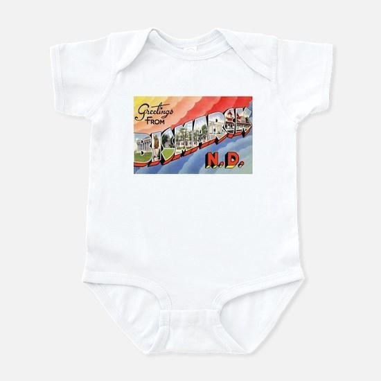 Bismarck North Dakota Greetings Infant Bodysuit