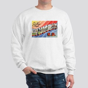 Bismarck North Dakota Greetings (Front) Sweatshirt