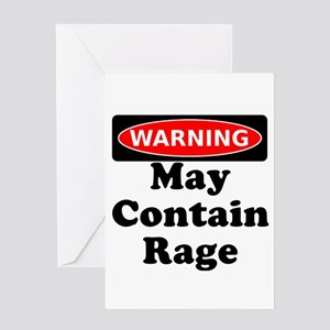 Warning May Contain Rage Greeting Card