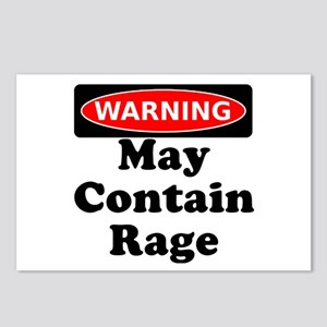 Warning May Contain Rage Postcards (Package of 8)