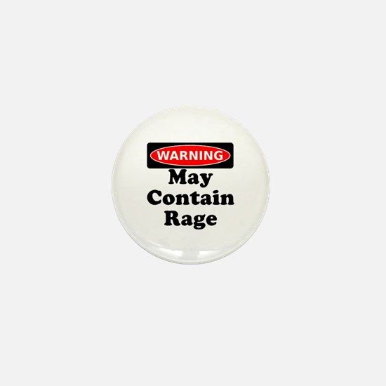 Warning May Contain Rage Mini Button