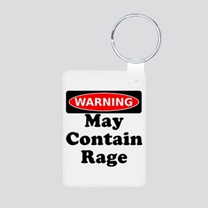 Warning May Contain Rage Keychains