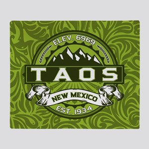 Taos Green Throw Blanket
