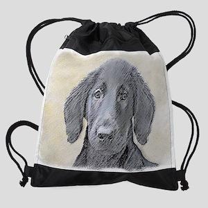 Flat-Coated Retriever Drawstring Bag