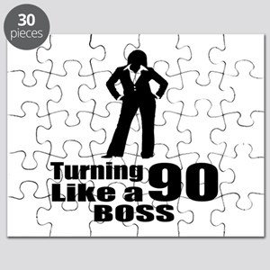 Turning 90 Like A Boss Birthday Puzzle