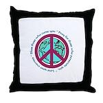 Christian Peace Sign Throw Pillow