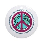 Christian Peace Sign Ornament (Round)