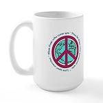 Christian Peace Sign Large Mug