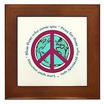 Christian Peace Sign Framed Tile