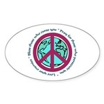 Christian Peace Sign Oval Sticker