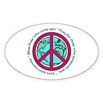 Christian Peace Sign Oval Sticker