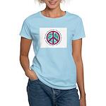 Christian Peace Sign Women's Pink T-Shirt