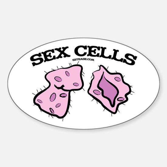 Sex Cells Oval Decal
