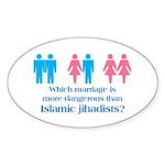 More Dangerous Than Jihadists Oval Sticker